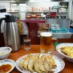 餃子と天津飯